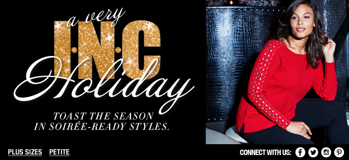 INC Holiday Toast the Season In Soiree-Ready Styles, Plus Sizes, Petite