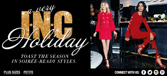 A very I.N.C Holiday, Toast The Season in Soiree-Ready Styles, Plus Sizes, Petite