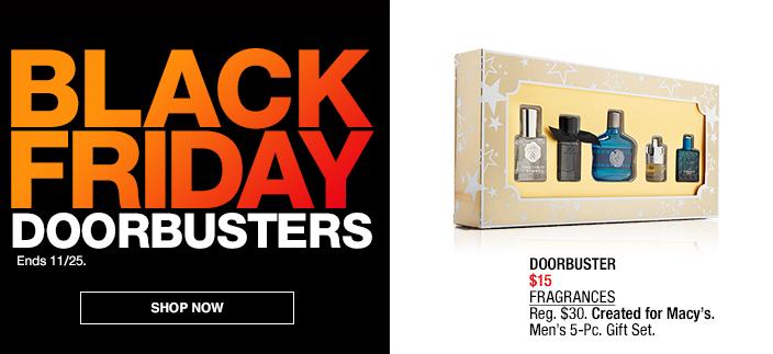 Black Friday Doorbusters, Shop now, Doorbuster $15 Fragrances