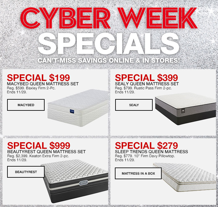 cyber week specials savings online and in stores special