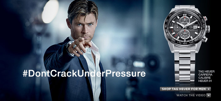 TagHeuer, DontcraCkunderPressure, Shop tag Heuer for Men, Watch the Vedeo