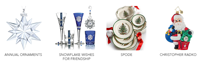 Annual Ornaments, Snowflakes Wishes for Friendship, Spode, Christopher Radko