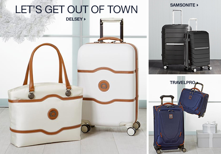 Let's get out of Town Delsey, Samsonite, Travelpro