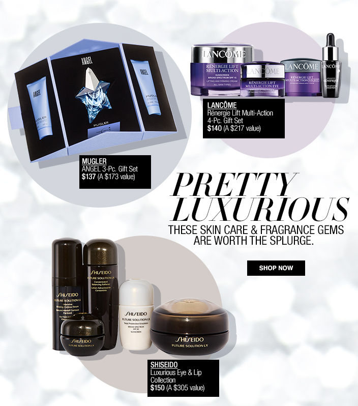 Pretty Luxurious, These Skin Care and Fragrance Gems are Worth the Splurge, Shop now, Lancome, Mugler, Shiseido