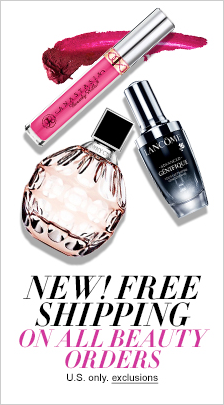 New! Free Shipping on all Beauty Orders, U.S only, exclusions, Shop now