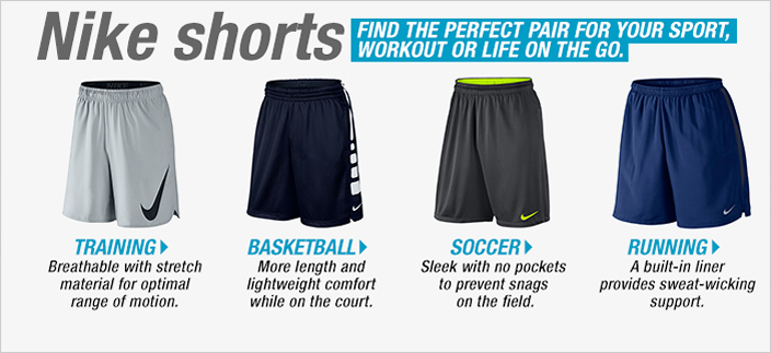 Nike shorts, Find The Perfect Pair For Your Sport, Workout or Life on The go, Training, Basketball, Soccer, Running