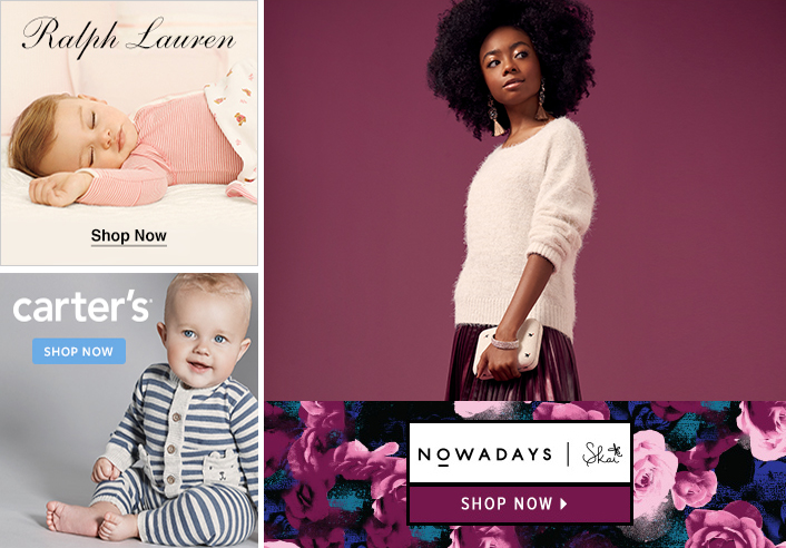 Ralph Lauren, Shop Now, Carters, Shop Now, Nowadays, Shop Now