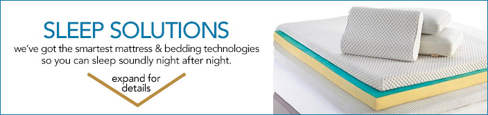 sleep solutions, we've got the smartest mattress and bedding technologies so you can sleep soundly night after night