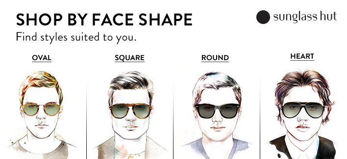 aviator ray ban sunglasses a8ha  Shop by Face Shape, Find styles suited to you, Sunglass hut, Oval,
