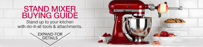 stand mixer buying guide. stand up to your kitchen with do-it-all tools & attachments.