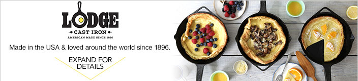 Lodge cast iron American made since 1896. Made in the USA and loved around the world since 1896.