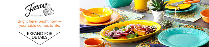Fiesta. Bright here, bright now - your table comes to life.