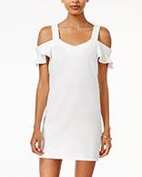 Bar III Cold-Shoulder Shift Dress. Only at Macy's