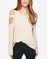 Sanctuary Cold-Shoulder Sweatshirt