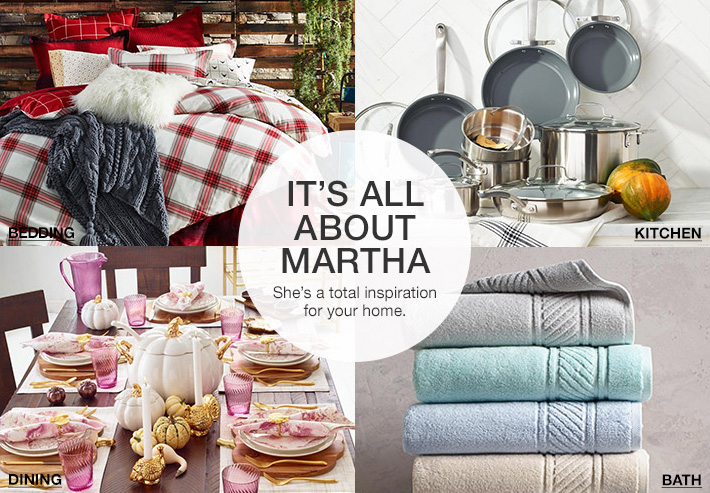 it's all about martha. she's a total inspiration for your home.