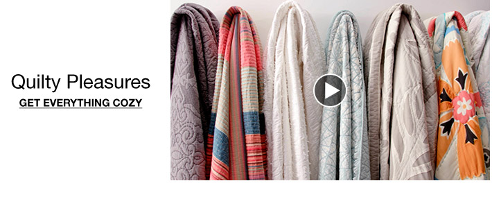 Quilty pleasures. Get everything cozy.