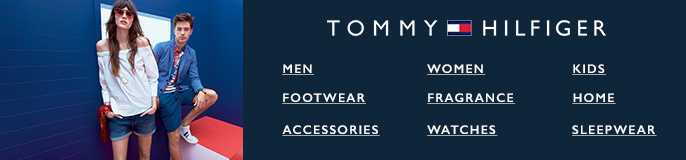 Tommy Hilfiger, Men, Women, Kids, Footwear, Fragrance, Home, Accessories, Watches, Sleepwear