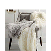 Faux-Fur Throws and Pillows