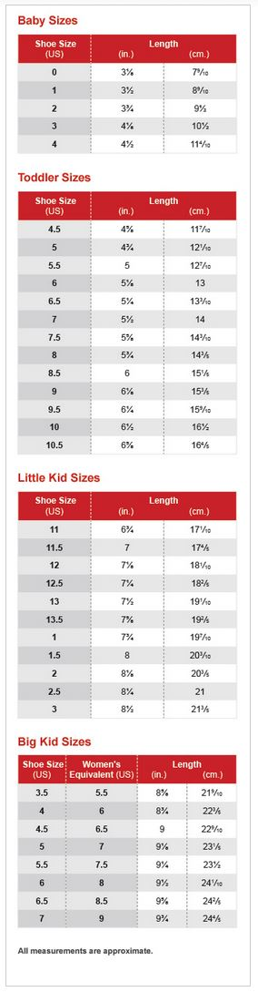 Kids Shoe Size Chart - A Parent's Guide to Kids' Shoes - Macy's