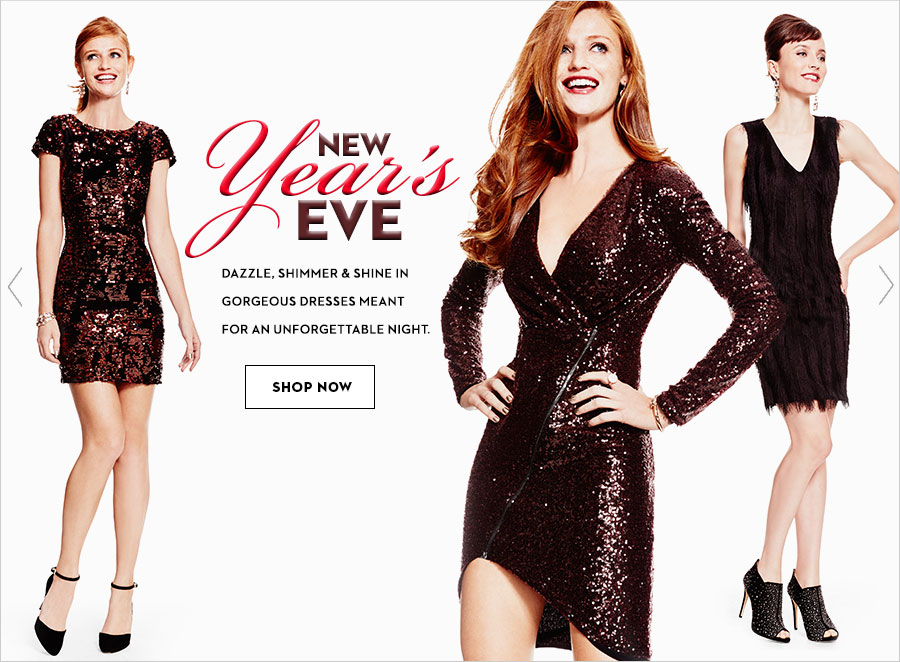 6366b8cb0ae3 New years eve. Dazzle, shimmer and shine in gorgeous dresses meant for an  unforgettable