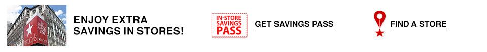 enjoy extra savings in stores