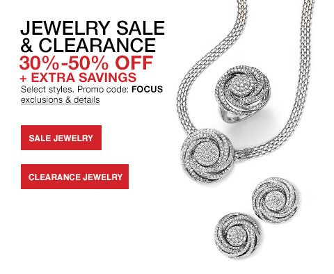 Jewelry sale and clearance thirty to fifty percent off for Macy s jewelry clearance