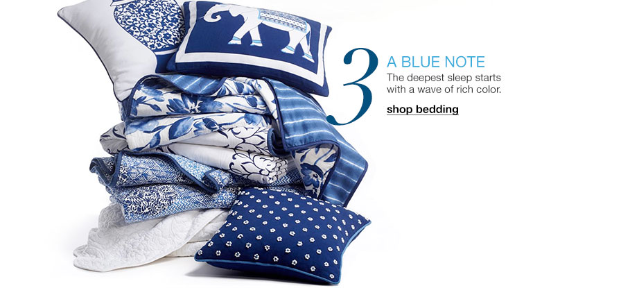 Three. A blue note - The deepest sleep starts with a wave of rich color.