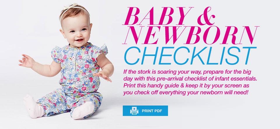 Baby  Newborn Checklist  MacyS