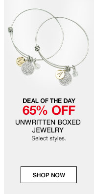 DEAL OF THE DAY. 65% off Unwritten Boxed Jewelry. Select styles.