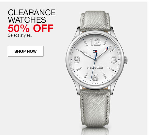 Clearance watches. 50% off. Select styles.