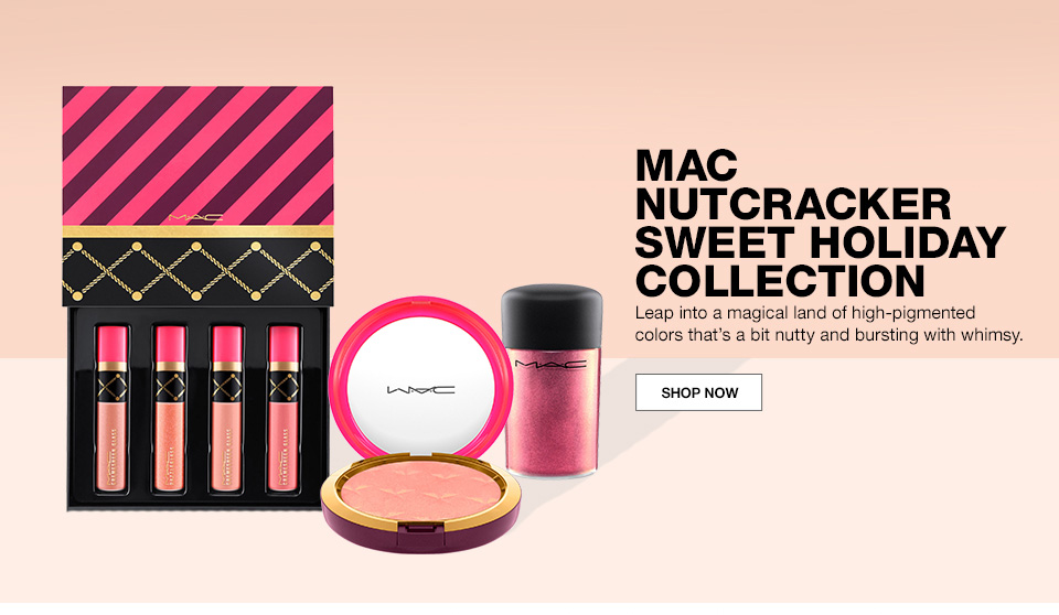mac nutcracker sweet holiday collection, leap into a magical land of high pigmented colors thats a bit nutty and bursting with whimsy.