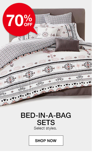 70 percent off bed in a bag sets. select styles.