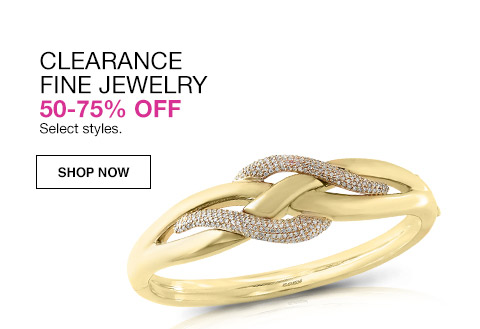 clearance fine jewelry 50 percent to 75 percent off. select styles.