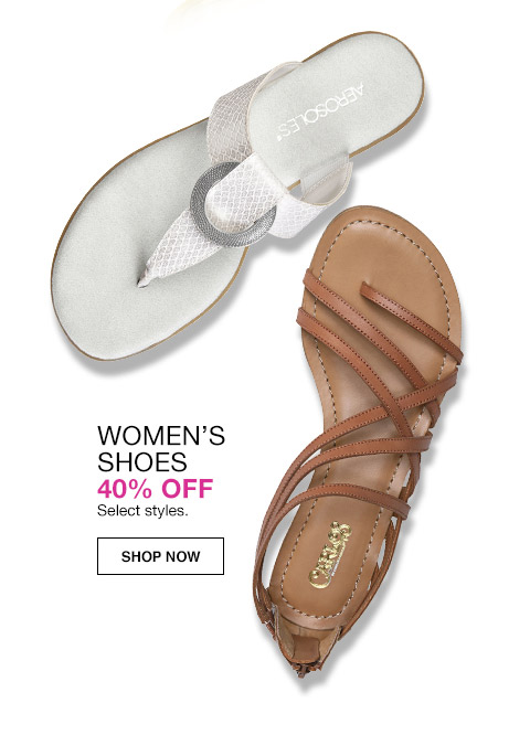 womens shoes 40 percent off. select styles.