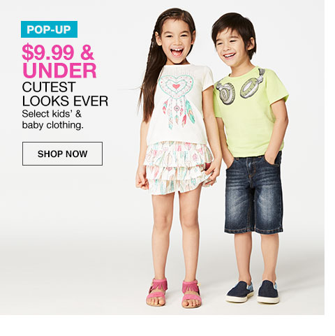 pop-up dollar 9.99 and under select