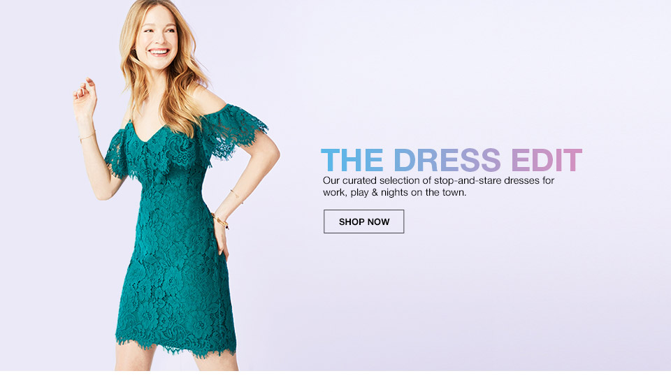 the dress edit. our curated selection of stop and stare dresses for work, play and nights on the town.