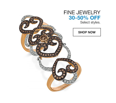 fine jewelry 30 percent to 50 percent off. select styles.