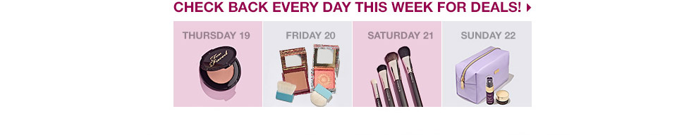 check back every day this week for deals!