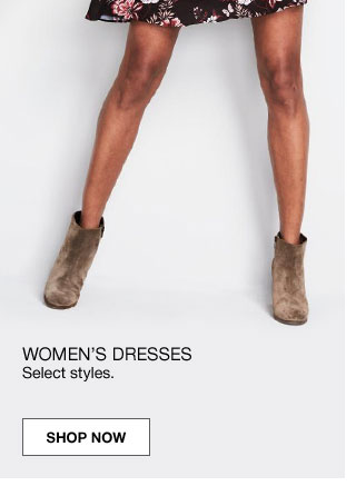 40 percent off women's dresses. Select styles.
