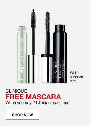 While supplies last. Clinique free mascara when you buy 2 Clinique mascaras.