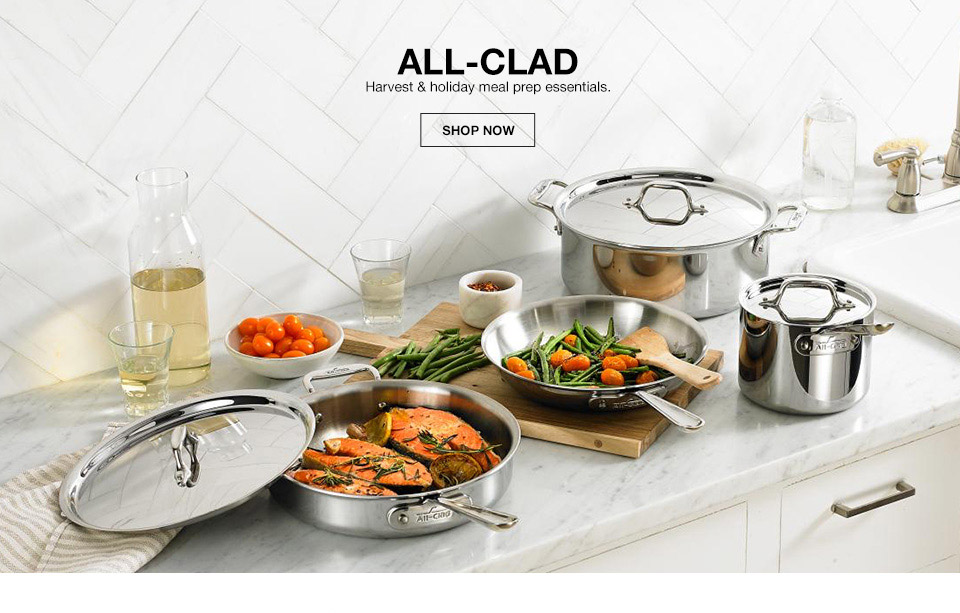 all clad harvest and holiday meal prep essentials.