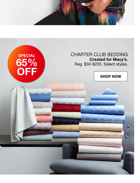charter club bedding created for macy's regularly $50 to $235. select styles.