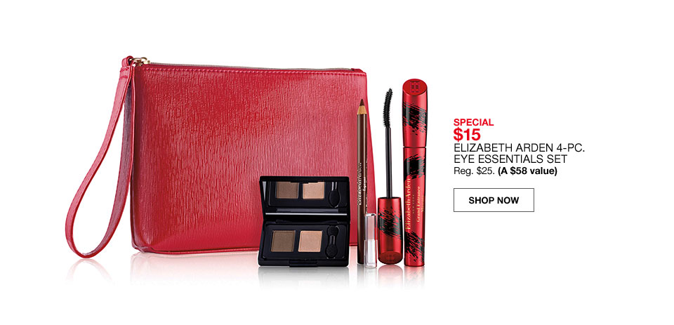 special $15 elizabeth arden 4 piece eye essentials set regularly $25 (a $58 value)