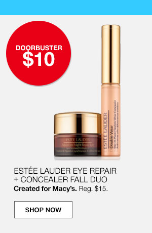 doorbuster $10. Estee lauder eye repair plus concealer fall duo. Created for Macy's. Regular $15.