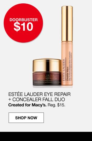 doorbuster $10. Estee lauder eye repair plus concealer fall duo. Created for Macy's. Regular $15.