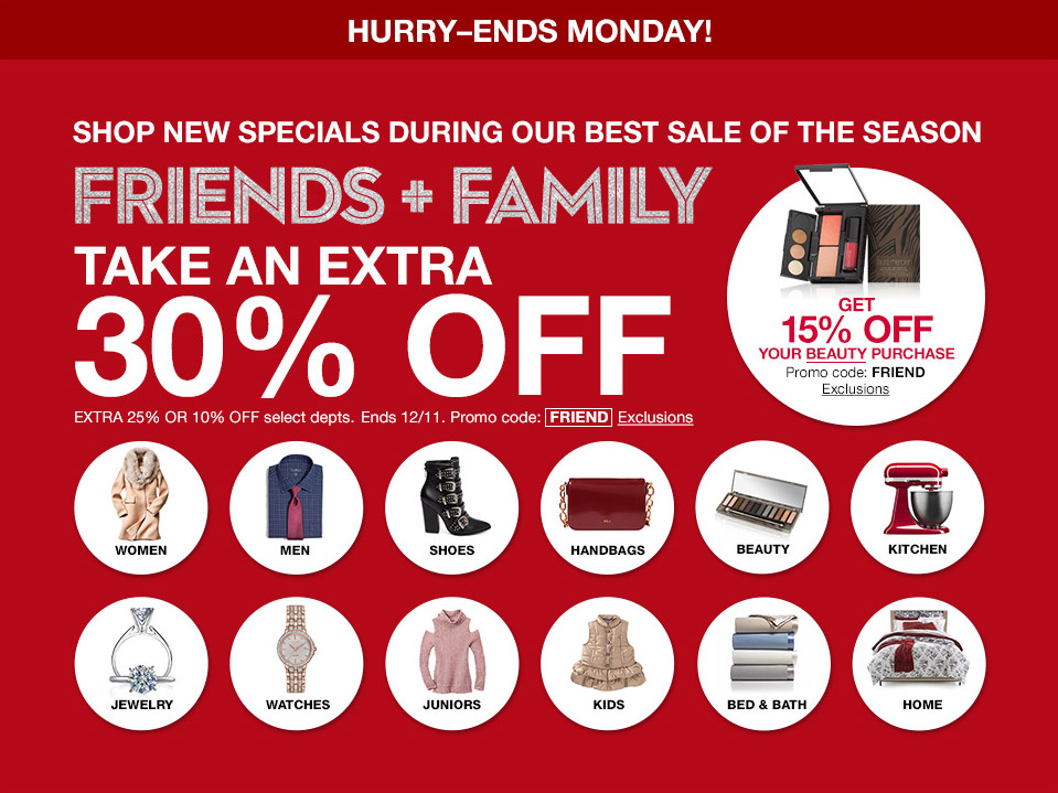 hurry ends monday shop new specials during our best sale of the season