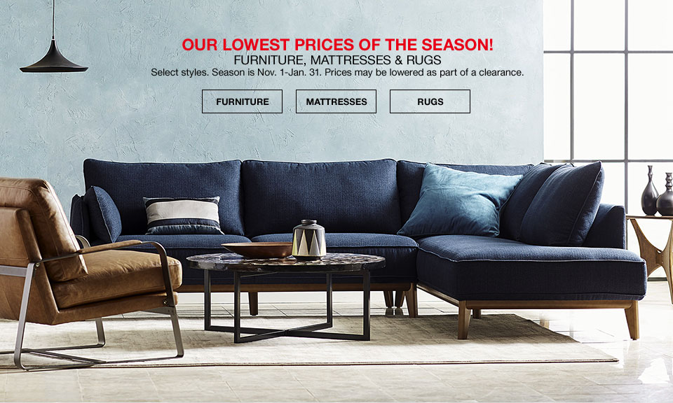 Our Lowest Prices Of The Season! Furniture, Mattresses And Rugs Select  Styles. Season