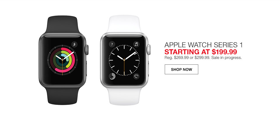apple watch series 1 starting at regular or sale in progress