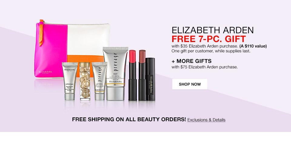 elizabeth arden free 7 piece gift with 35 elizabeth arden purchase a 110 value