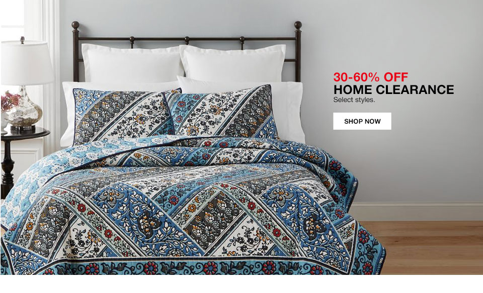 30 to 60% off Home clearance. Select styles.